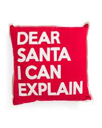 Tj Maxx Christmas Throw Pillows by 20x20 Dear Santa I Can Explain Pillow Holiday Decor T J Maxx