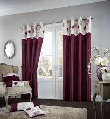 Faux Silk Eyelet Curtains by Koh Luxury Faux Silk Eyelet Curtains Aubergine
