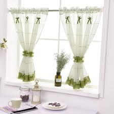 großhandel kurze vorhänge plaid leinen tüll vorhang für küche wohnzimmer schlafzimmer fenster vorhänge wohnkultur griffith 23 59 auf