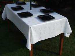 Rectangle Patio Tablecloth With Umbrella Hole by White Outdoor Tables Atelier Theater For Umbrella Tablecloth