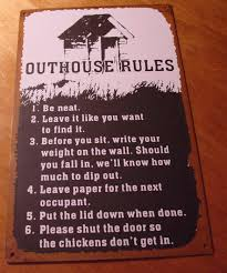 old west country primitive rustic western outhouse rules bathroom