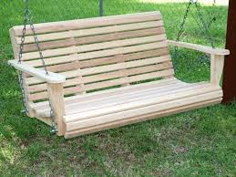 Kmart Porch Swing Cushions by Outdoor U0026 Garden Cheap Solid Wood Patio Swing Design For 3