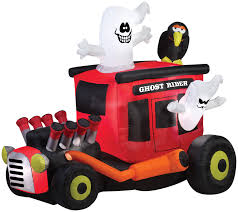 Halloween Airblown Inflatables Uk by Gemmy Airblown Inflatable Ghost Rider Rod Halloween Outdoor