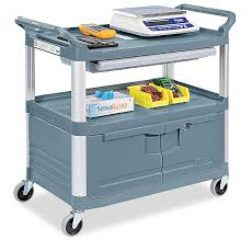 Rubbermaid Service Cart With Cabinet