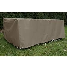 housse de protection pour canapé de jardin jardins d hiver housse table rectangulaire 180 x 100 cm taupe