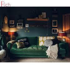china wohnzimmer möbel sektional grün velvet ecke sofa