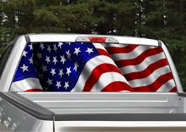Waving American Flag Rear Window Graphic | Miller Graphics How To Install American Flag Truck Back Window Decal Sticker Truck Rear Window Black White Distressed Vinyl Design Your Own Rear Graphics Arts Window Graphic Vehicle Decals Compare Prices At Nextag Toyota Tacoma 2016 Importequipment Tropical Paradise Wrap Tailgate Kit Ebay New York Jets 35 X 4 Windshield Decal Car Nfl Custom Logo Maker Many Is Too True North Show Off Stickers Page 50 Ford F150 Forum Your Rear Stickerdecal 2015present Trucks 5 Funny Cummins Trucks