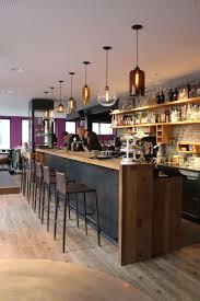 Niche Modern Contemporary Bar Lights At Gass 17 Restaurant Alternating Different Coordinating Pendants Over A