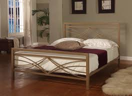 Wrought Iron And Wood King Headboard by Strong And Durable Iron Bed Frames King For Modern Design Modern