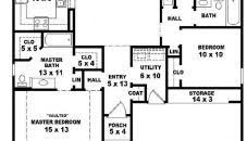 Ranch House Floor Plans Colors Simple One Story House Floor Plans Small Ranch With 2 Master
