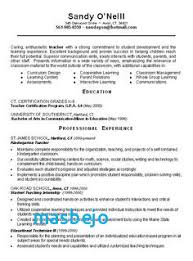 Elementary School Teacher Resume Examples Special Education 2013 Physic Minimalistics