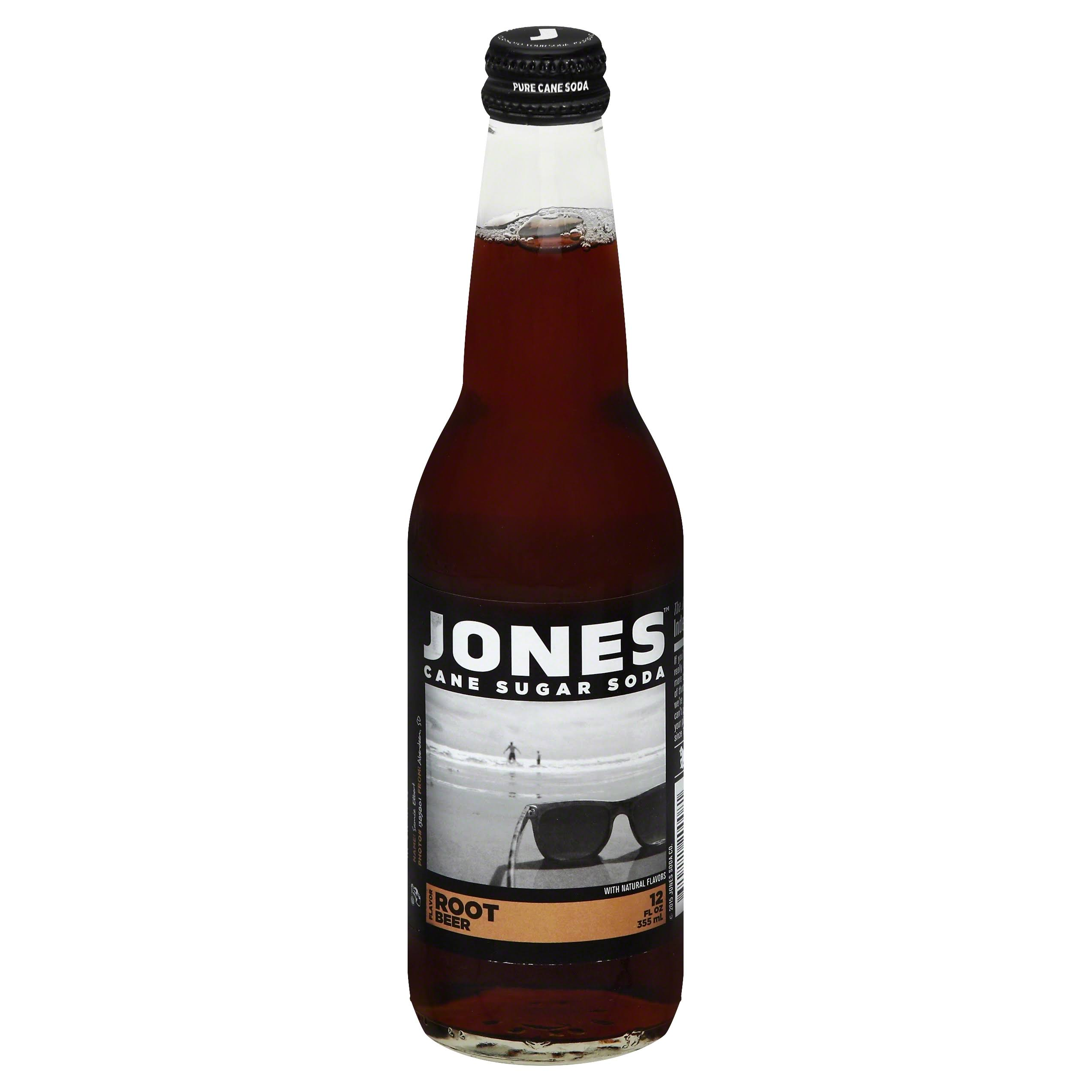 Jones Soda, Cane Sugar, Root Beer Flavor - 12 fl oz