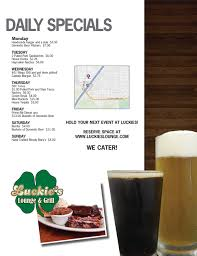 Luckie's Lounge & Grill Delivery Menu - With Prices - Lincoln NE ... Eat Your Way Through All 20 Toledo Lucas County Public Library Black Forest Cafe Oregon Restaurant Reviews Phone Number Lucky 13 Bar Grill Home Phuket City Menu Prices Recently Reviewed Bill Of Fare Restaurants 84 The Blade Good Luck St Louis Luckys Burger And Brew Roswell Georgia Dine Out For Cure 2015 Susan G Komen Northwest Ohio Luckies Lounge Delivery With Lincoln Ne Tommys Detroit Dtown Metro Sports