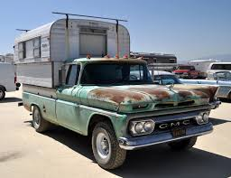 Just A Car Guy: Cool Old GMC Truck And Camper That Expands Vertically