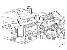Village Lego Coloring Pages