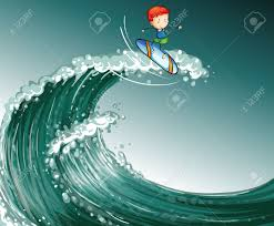 Monster Waves clipart tidal wave 2