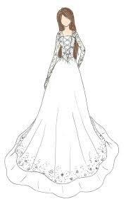 Wedding Dress Design Drawings 28