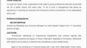 Accounting Manager Resume Examples 19 Free Account Objective