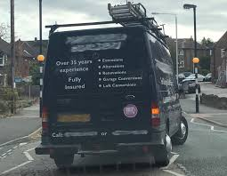 I Followed A Van Whilst Driving The Other Day And Noticed Sign Writing On Rear Doors That Proudly Stated Building Company Was Fully Insured