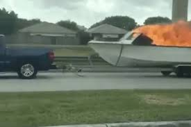 100 Truck Boat Heres Video Of Someone Towing A Flaming Down A MiamiDade