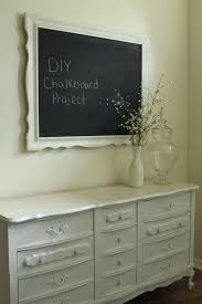 Thrift Store Dresser Used As Dining Room Buffet 62 Mirror Turned Into A Chalkboard 15 Total Cost With Accessories 100