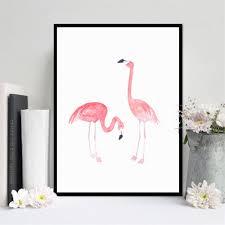 display08 flamingo leinwand aquarell malerei modern
