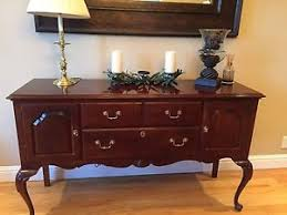 Image Is Loading Ethan Allen Georgian Court Dining Table Hutch Sideboard