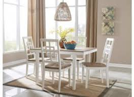DR79 2 Tone White Dining Table 4 Chairs