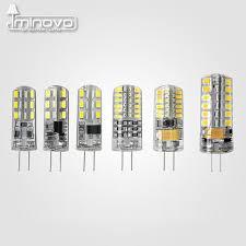 iminovo 10pcs g4 cob light bulb led l ac 12v ac 220v dc 12v 6w