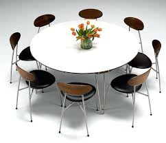 Contemporary Extendable Dining Room Table Modern With Large White Round Expandable Piece