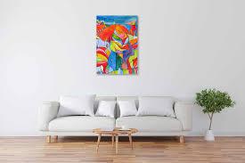 acryl gemälde abstrakter bunter baum handgemalt vom künstler
