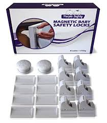 Magnetic Locks For Cabinets Canada by Amazon Com Purple Safety 4 Magnetic Baby Locks 1 Key For