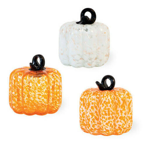 Three Little Glass Pumpkins in A Box by Boston International