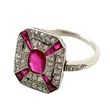 deco ruby and ring deco ruby and ring 1920 s antique vintage rings