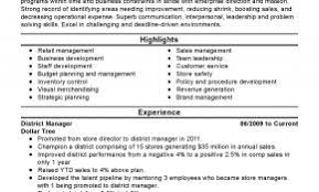 My Perfect Resume Professional Summary Examples Best Of District Manager Templates To Showcase Your Talent