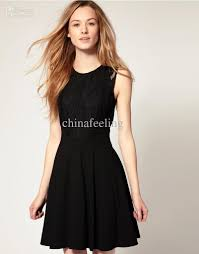 black lace casual dresses prom dresses summer european style
