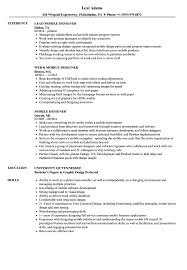 Mobile Designer Resume Samples | Velvet Jobs Graphic Design Resume Guide Example And Templates For 2019 Create Examples Picture Ideas Your Job Designer Cv Format Free Download Template Word 20 Best Designed Creative 17 Ui Samples And Cv Visualcv Sample Velvet Jobs Fresher By Real People
