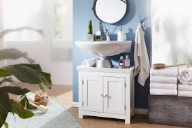 finebuy design waschbeckenunterschrank fb37103 badunterschrank mit 2 türen weiß kleiner schrank badezimmer 57 cm breit badschrank waschbecken