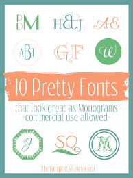 10 Commercial Free Monogram Fonts The Graphics Fairy