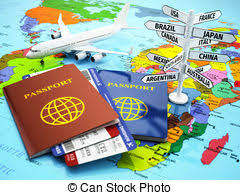 Travel Or Tourism Concept Passport Airplane Airtickets