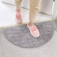 h2okp 009 einfarbig teppich wasseraufnahme halbrunde