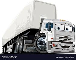Cartoon Semi Truck Royalty Free Vector Image - VectorStock