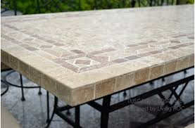 design for mosaic patio table ideas 23700 tile top dining