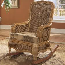Furniture: Antique Interior Chair Design With Upholstered Rocking ...
