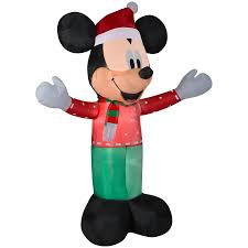 Disney 6ft Lighted Mickey Mouse Christmas Inflatable At Lowescom