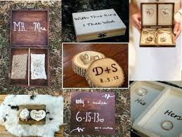 Rustic Wedding Decorations Our Favorite Wood Ring Boxes Rentals