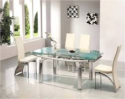 glass tables for dining room white dining room interior with glass