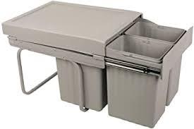 sanitop wingenroth ausziehbarer mülleimer küche 30 l einbaumülleimer trennsystem 15 l 2 x 7 5 l 3 fach trennung abfallsystem ausziehbar