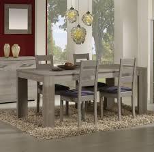 table de salle à manger contemporaine coloris chêne gris ileane