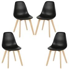 jeobest esszimmerstuhl 4 stk kunststoff lounge sessel skandinavien schwarz